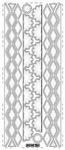 Randen ornamenten transparante borduursticker zilver    per vel