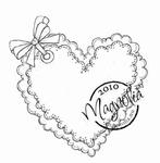 Elegant Heart    per stuk