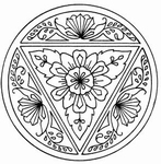 Sensational Circle Floral Blessings    per stuk