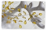 Chandelier Yellow    per stuk