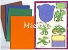 Draak set van vier kaarten, enveloppen en knipvellen    per setje
