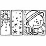 Sneewpop met sneeuwvlokken    per stuk