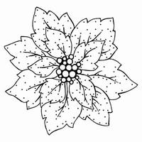 Stamp 'n' Stich   Poinsettia    per stuk