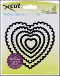Scalloped Heart  Nesting Dies - 5 st.    per set