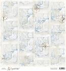 Scandinavian Map  30 x 30 cm    per vel