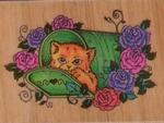 Kat in kattenmand    per stuk