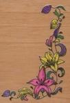 Bloemenrank hoekstempel    per stuk