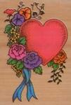 Hart met bloemenrank    per stuk