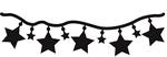 Stars Guirlande    per stuk