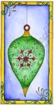 Ornament and Swirls in rectangle    per stuk