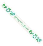 Spring tekst ribbons 3mtr. 1,6 cm breed    per rol