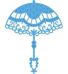 Vintage parasol    per stuk