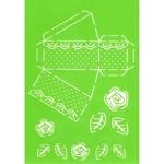Taartpuntje bloem blad A4 stencil    per stuk