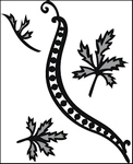 Tini's Swirls and Leaves 1    per set