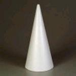 Styropor kegel 20cm    per stuk