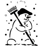 Sneeuwpop met bezem    per stuk