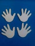 Hand 4 stuks. Doorsnede 6 cm. 1,5 mm dik    per set