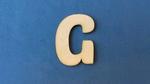 Letter G 2 cm. en 1,5 mm. dik    per stuk