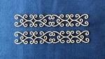 Rand sierlijk nr.1. 10 x 1,6 cm 1,5mm dik chipboard    setje van 4