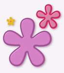 Retro Flowers    per stuk