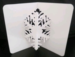 Sneeuwkristal Pop up card A6 met envelop.    setje van 3