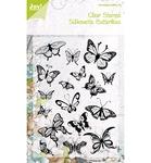 Silhouette Butterflies    per set