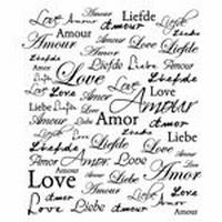 Tekststempel Amour    per stuk