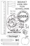 School stamp-NL    per set
