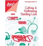 Stencil xoxo+Carpe Diem    per stuk
