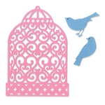 Birdcage + Birds    per set