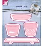 Spring Love bloempotten    per set