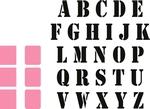 Stempel Alfabet en stansjes    per set
