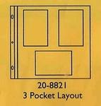 3 Pocket Layout    per set
