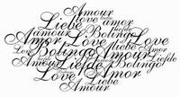 Tekststempel Liefde    per stuk