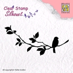 Silhouette Bird Song 1    per stuk