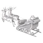 Kerstman en slee    per stuk