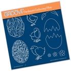 Ornate Eggs & Chicks    per stuk