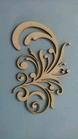 Swirl Marlous van rechts 12 x 7,5 cm 1,5mm dik chipboard    per stuk