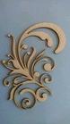 Swirl Marlous van links 12 x 7,5 cm 1,5mm dik chipboard    per stuk