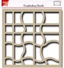 Scrapbook Stecil - Waves    per stuk