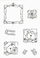 Stampies : Happy Birthday    per set