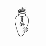 Retro Christmas Bulb    per stuk