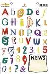 Alfabet newspaper    per stuk