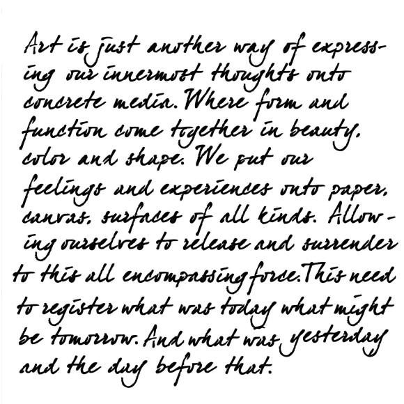 """12""""x 12"""" Art Is .. by Jaime Echt"""