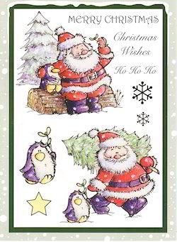Santa And Penguin