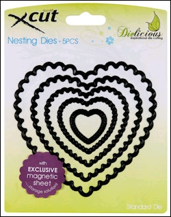 Scalloped Heart  Nesting Dies - 5 st.
