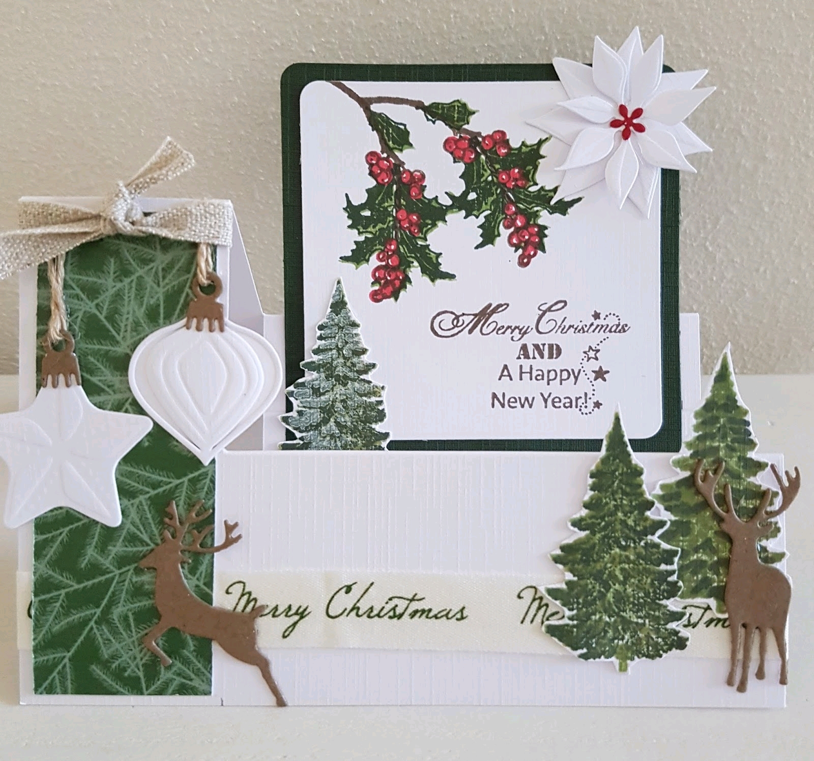Step clearstamps A5 - kerstbomen, takken Christmas Nature