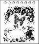 Clear stamp  Vlinders   per vel
