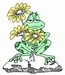Frog with Flowers   per stuk