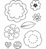 Eline's Babies Clear stamps    3D Flowers
